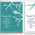Green Birds In Love Card Design