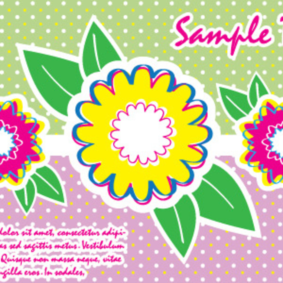 Colorful Card With Flowers