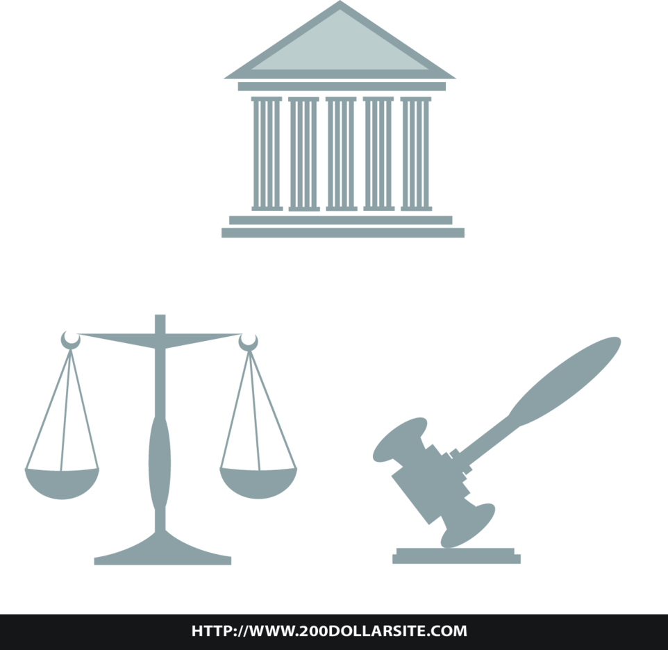 Law And Legal Illustration Free Vector
