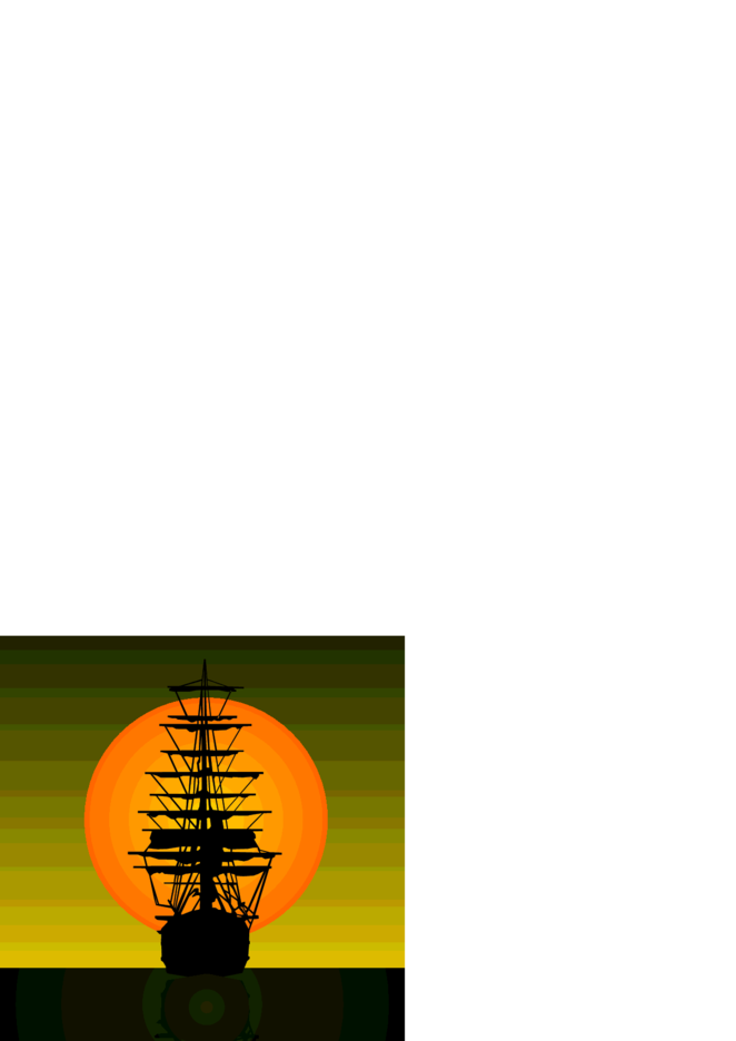 Sailing Vessel On Sunset