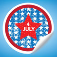 Fourth Of July Sticker Vector