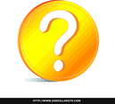 Golden Question Free Vector