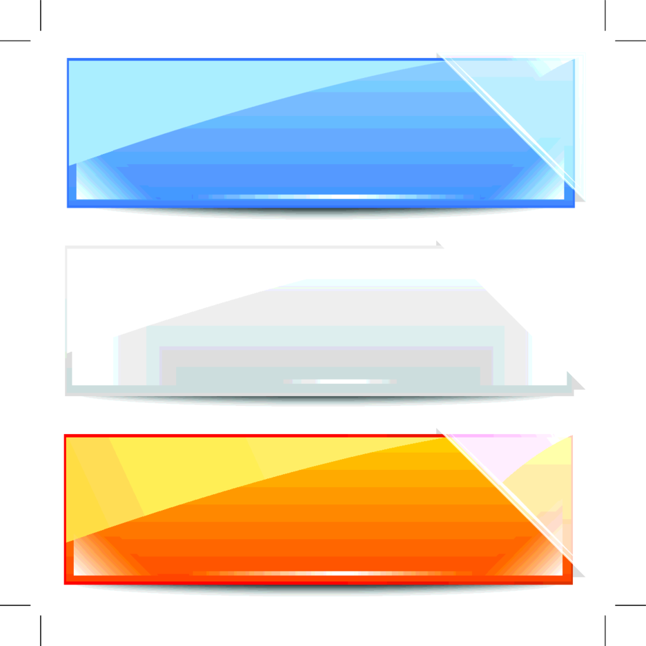 Vector Banner With Glass