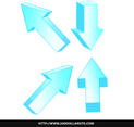 Free Blue Vector Arrows