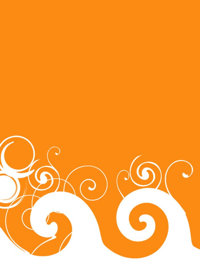 Orange Swirl Background Vector