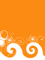 Orange Swirl Background Vector