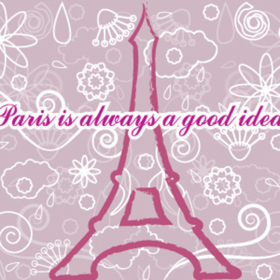 Eiffel Tower In Paris Post Card Vector