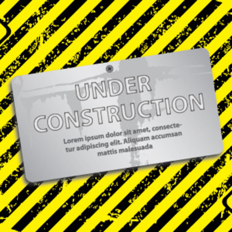 Under Construction Card Design