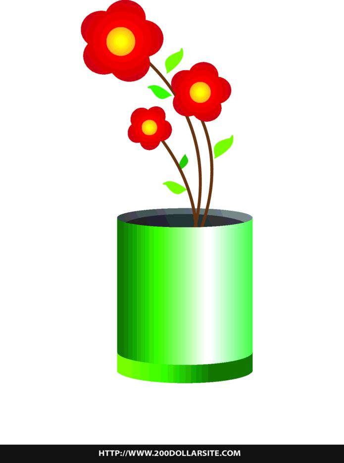 Free Simple Flower In A Vase Vector