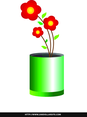 Free Simple Flower In A Vase Vector