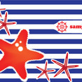 Sea Stars Vector Card Design