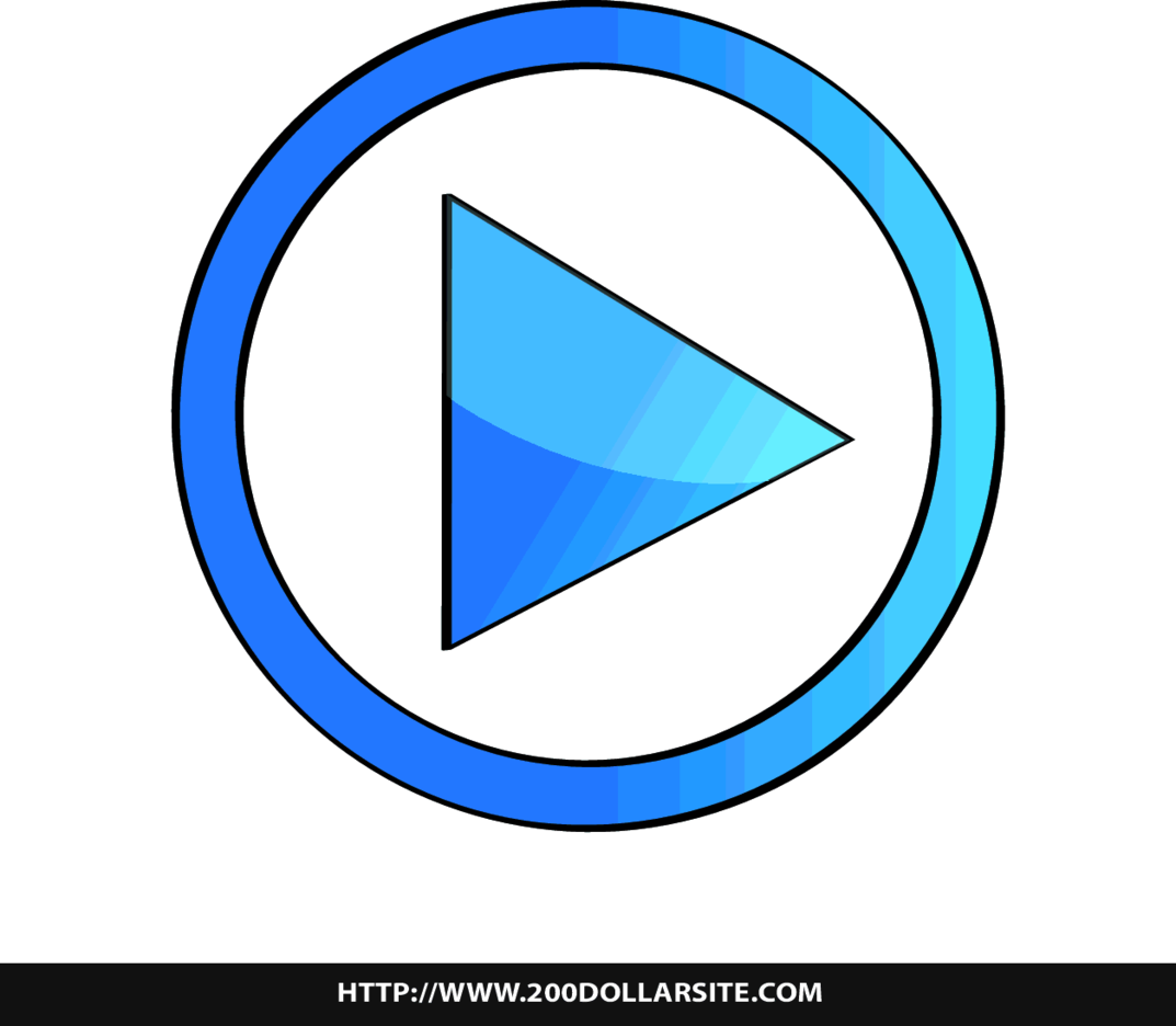 Free Play Button Vector Icon