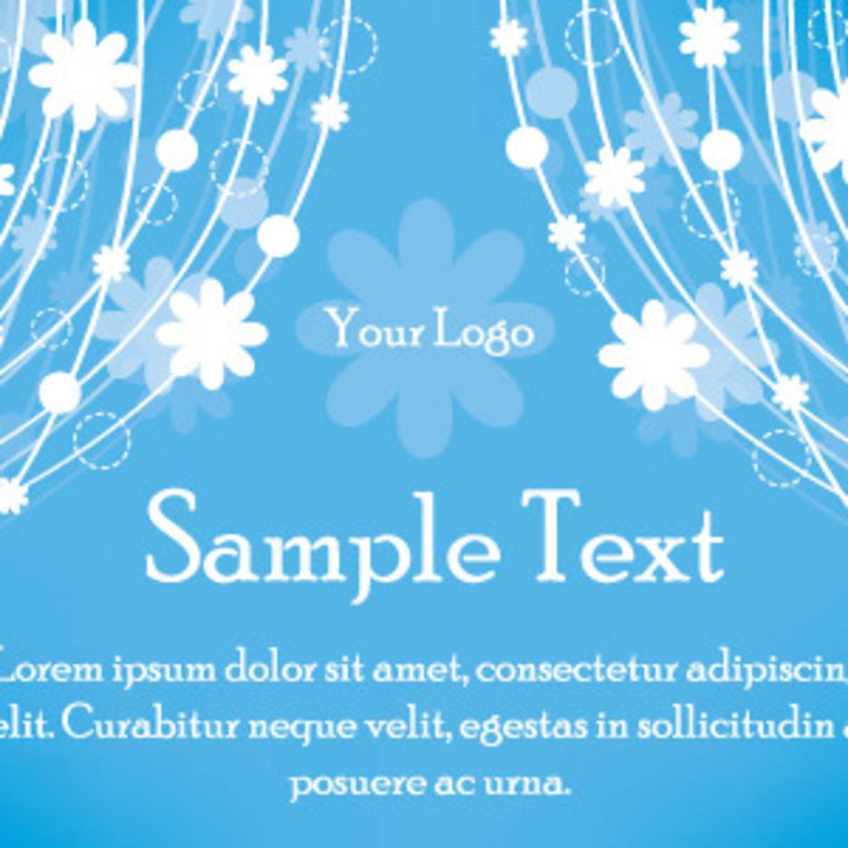 Blue Flowers Background Design
