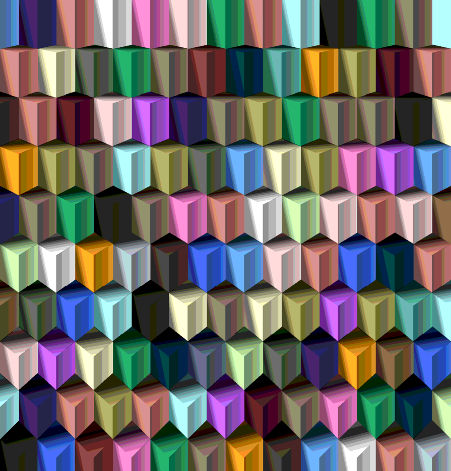 Cube Geometric Background