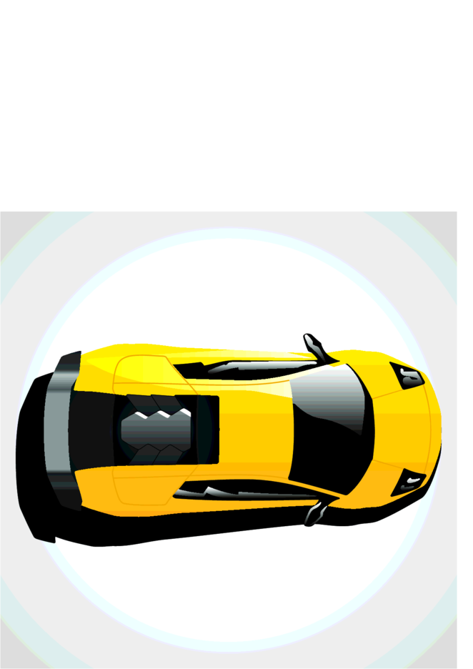 Lamborghini Car Top View