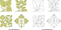 Floral Brushwork Designs