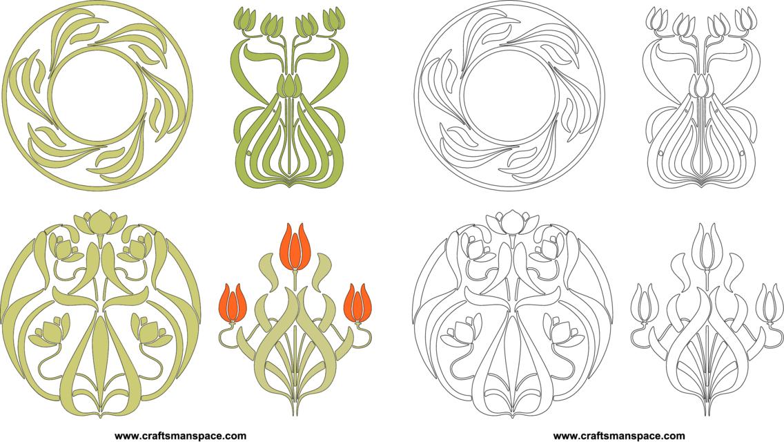 Floral Brushwork Patterns