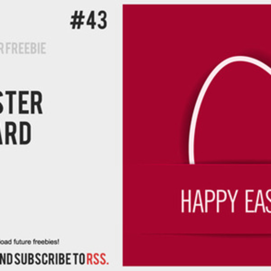 Free Vector Of The Day #43: Easter Card
