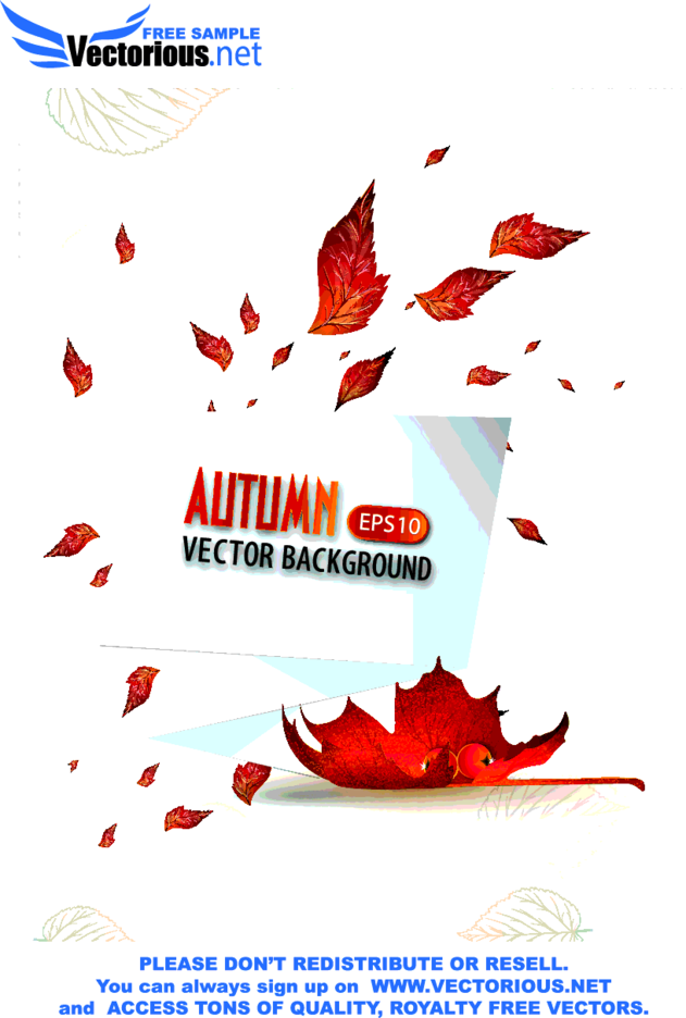 Vector Autumn Backround With Paper Speech Bubble