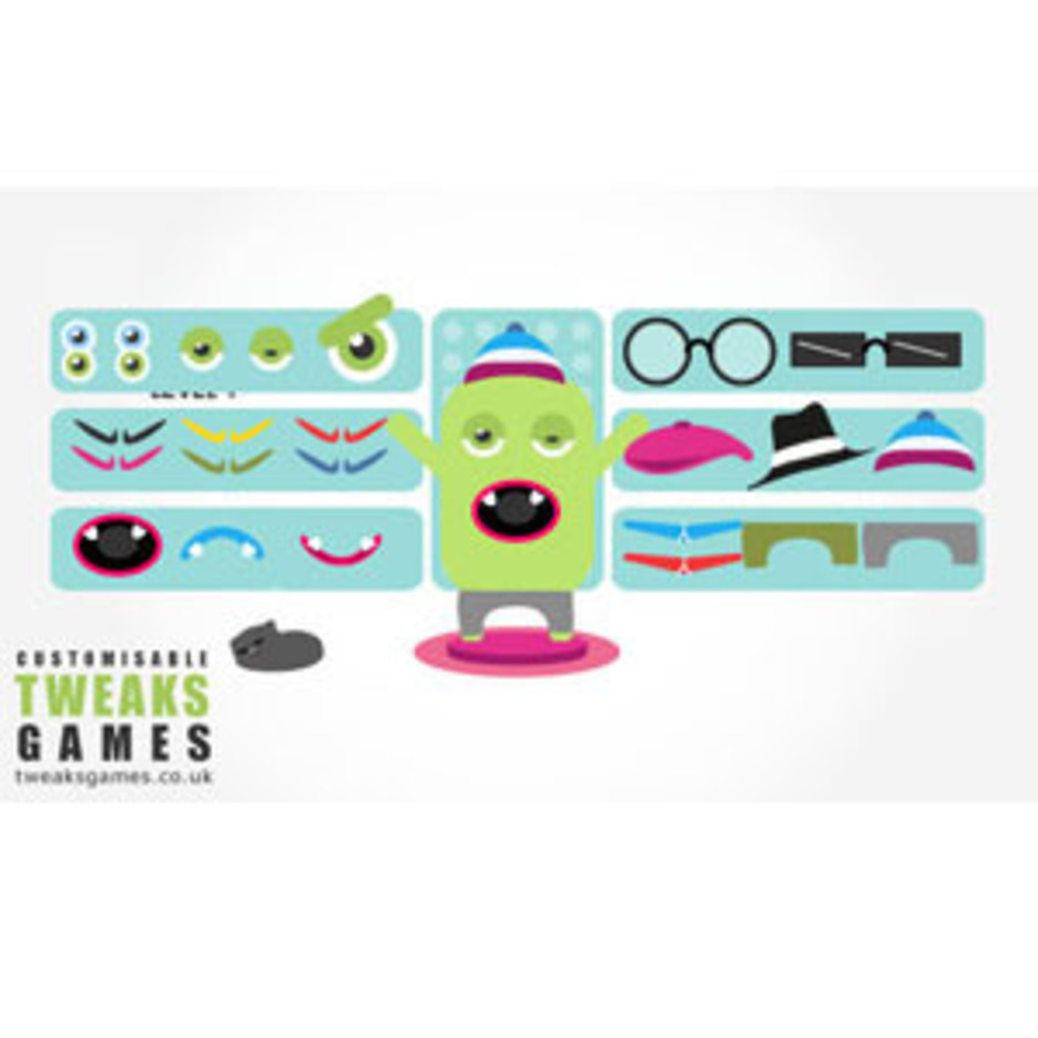 Dress Up Monster Vectors Pack