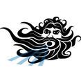Greek God Of Sea Vector