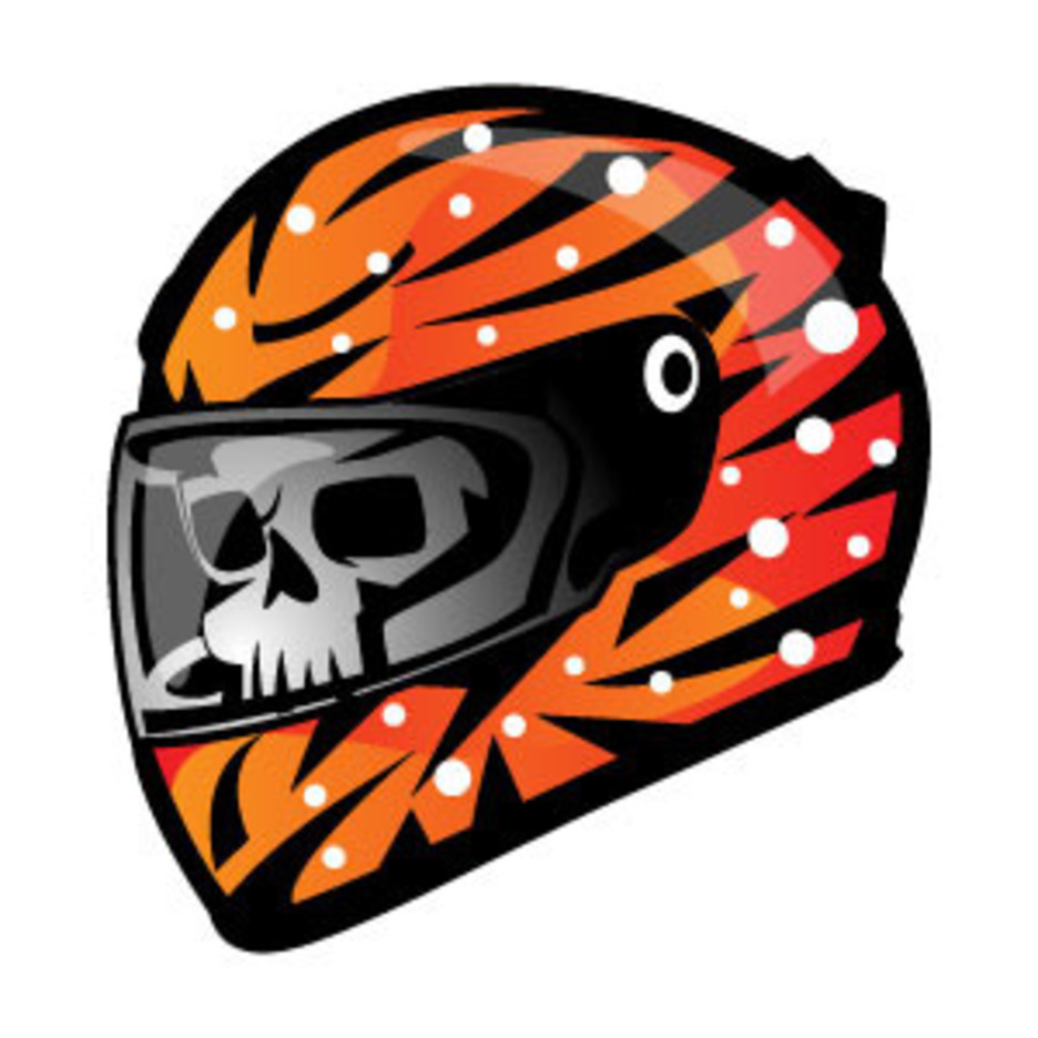 Racing Helmet Vector Illustration
