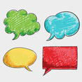 Free Vector Of The Day #120: Scribbled Speech Bubbles