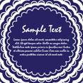 Blue Background Vector Card