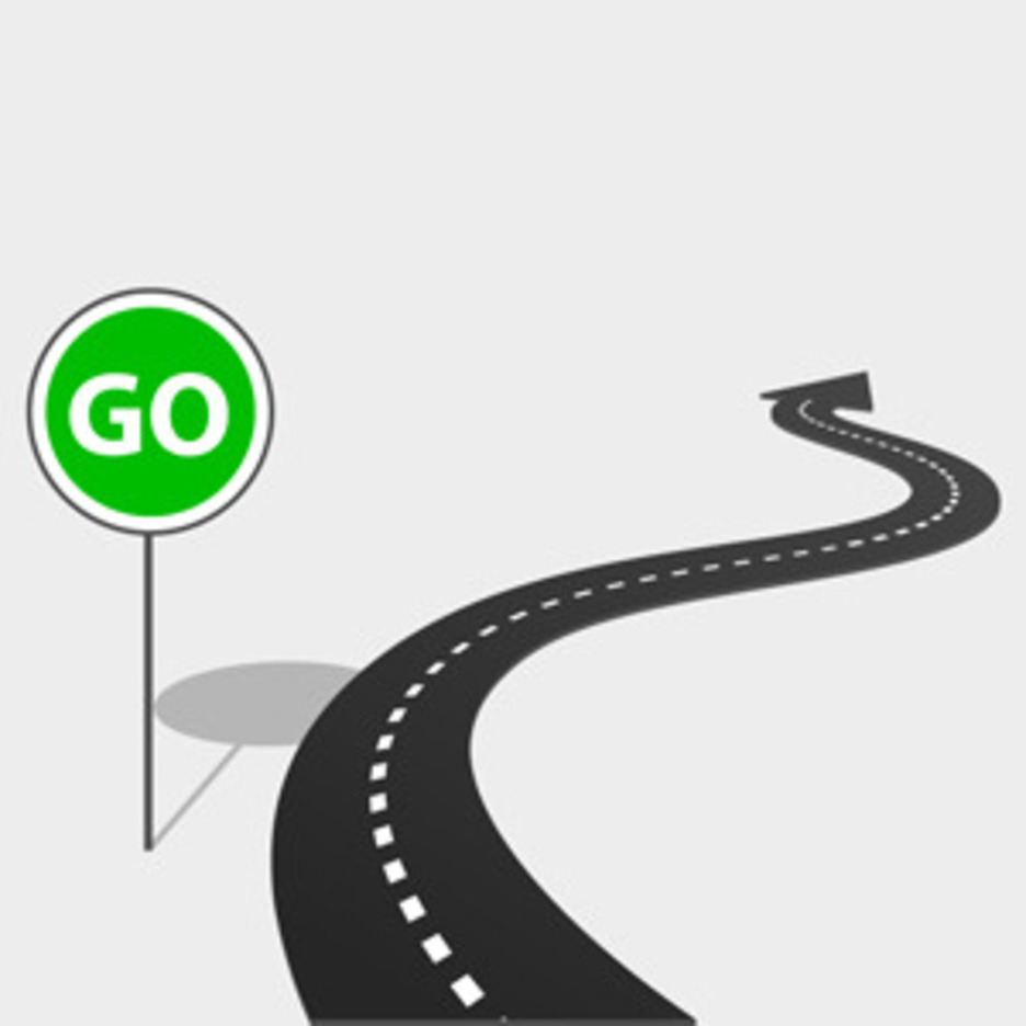 Free Vector Of The Day #85: Highway With Go Sign