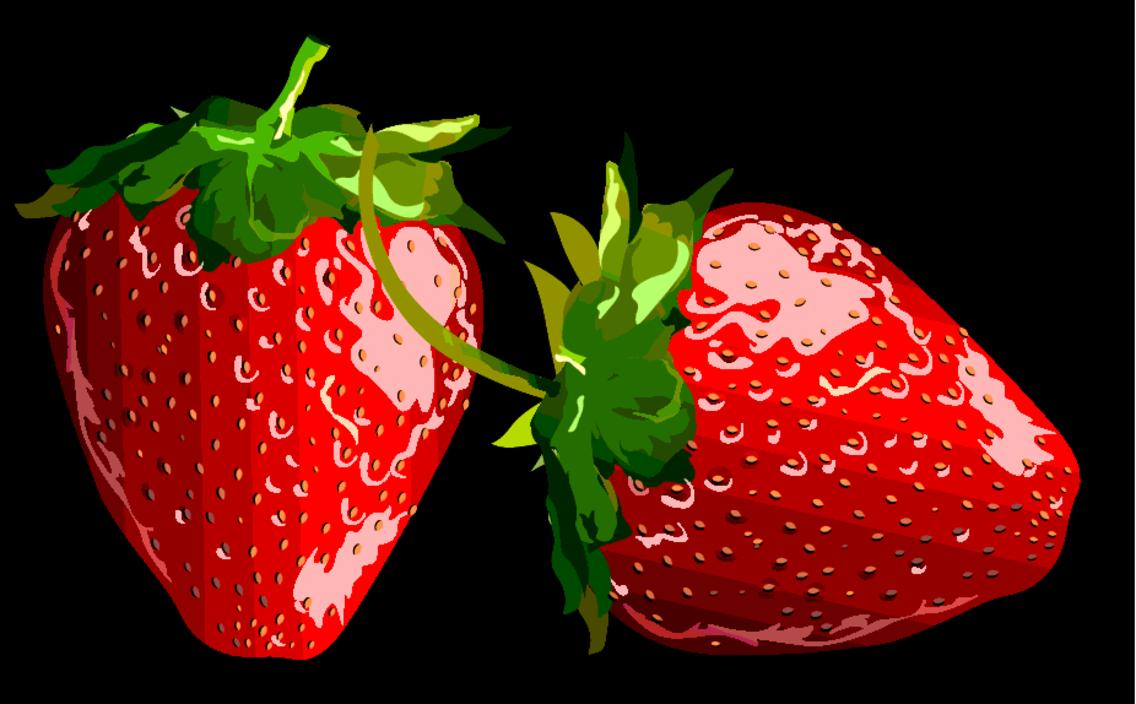 One Strawberry On Black Background