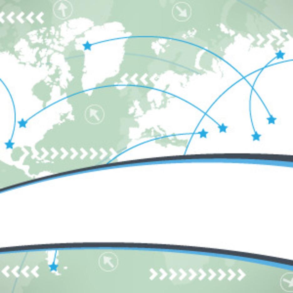 Worldmap Business Card Vector