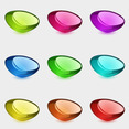 Free Vector Of The Day #126: Colorful Glossy Shapes