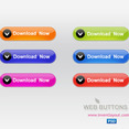 Web Download Button - Free PSD