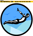 Diver Vector Image