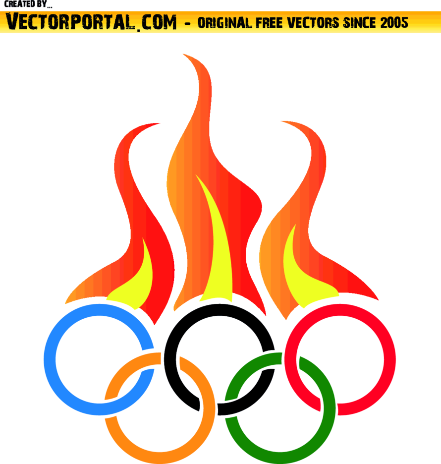 Olympic Flames Vector