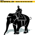 Maharaja Riding An Elephant Vector
