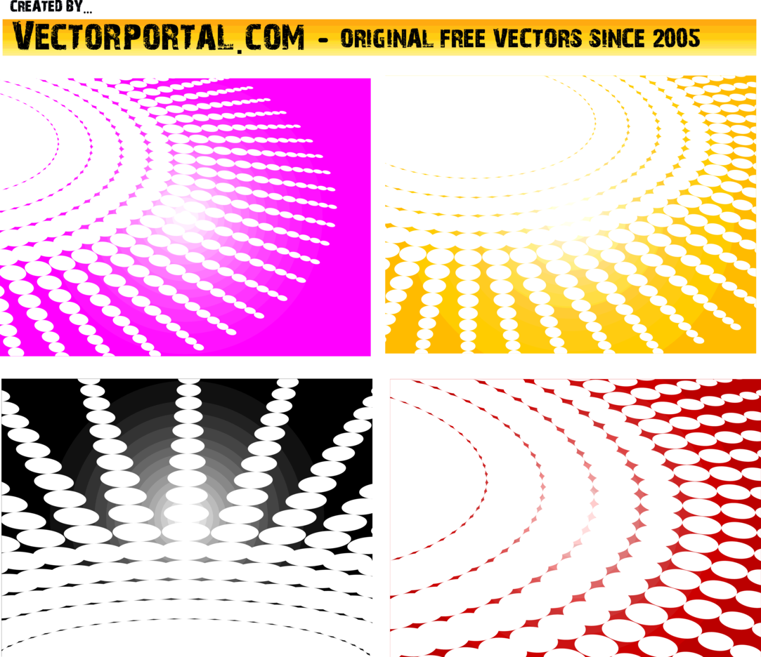 Dots Spiral Vector Pack