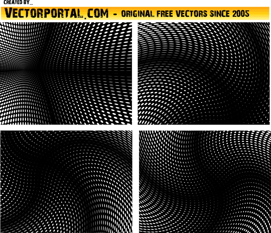 Twirled Halftone Vector Backgrounds