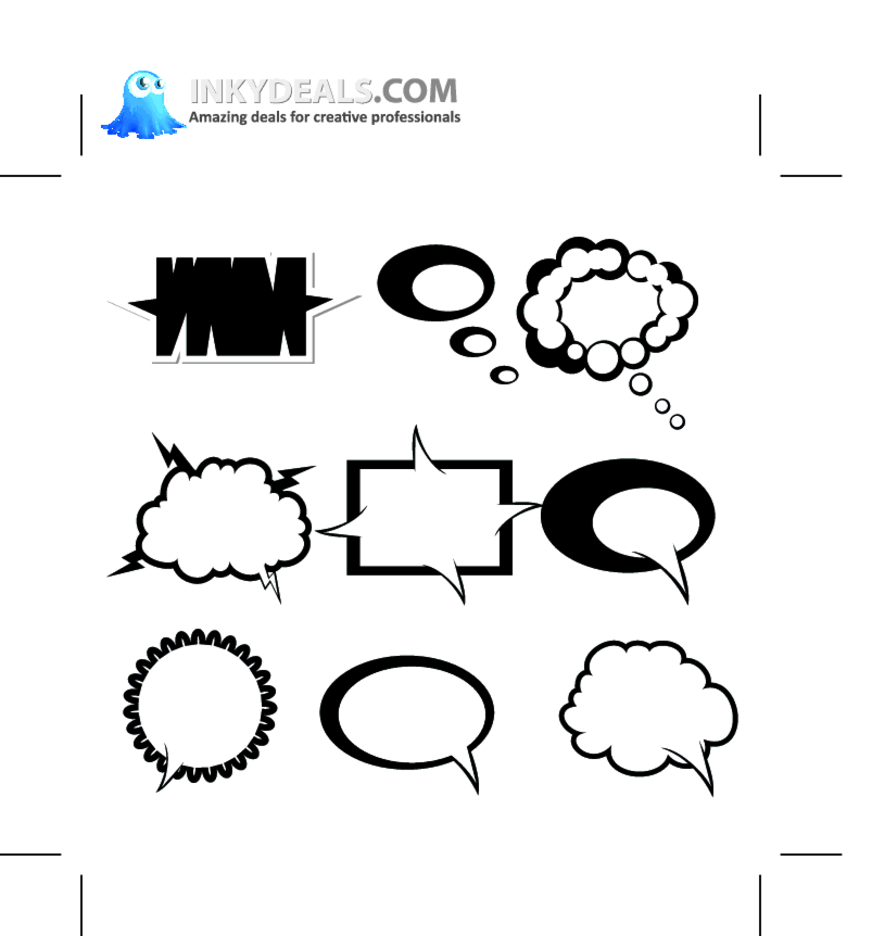 Abstract Chat Bubbles 1
