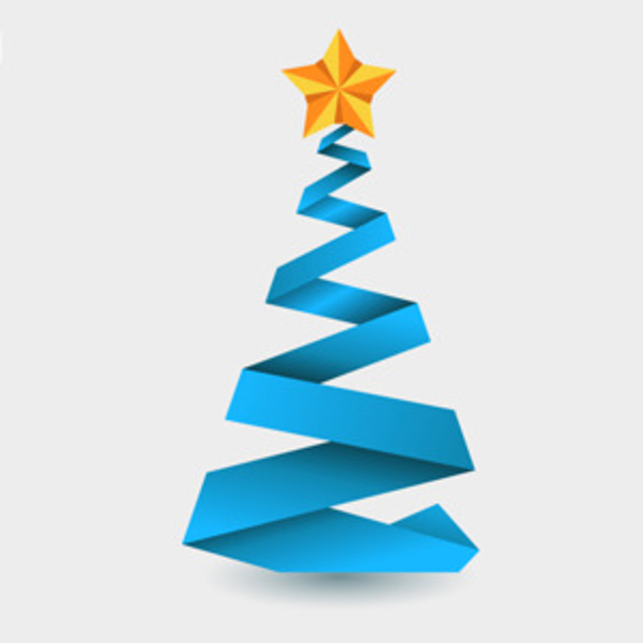Free Vector Of The Day #129: Origami Christmas Tree