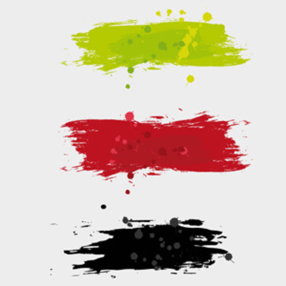 Free Vector Of The Day #84: Paint Brush Strokes