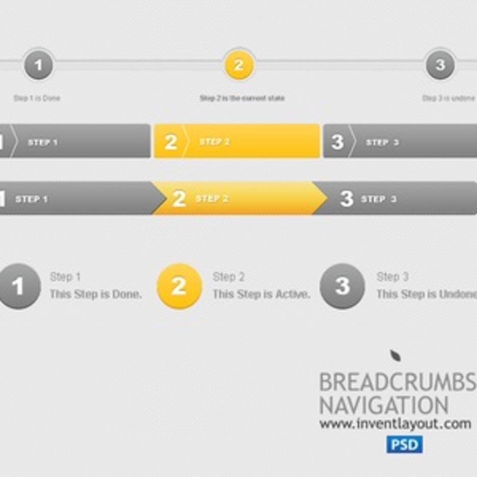 Breadcrumbs Navigation PSD