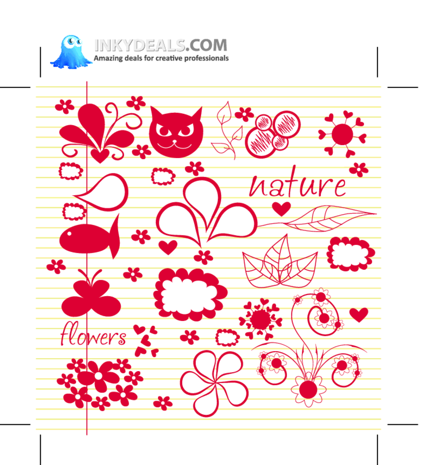 Doodle Nature Elements 1