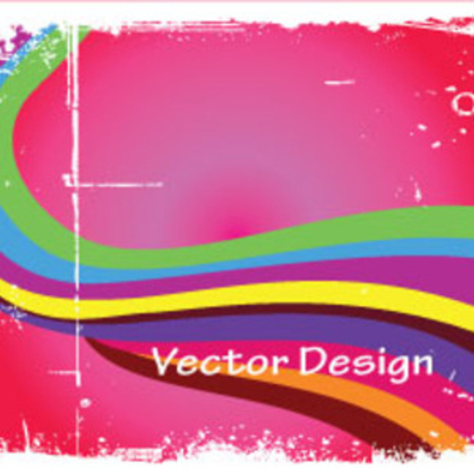 Grunge Colorful Vector In Pink Background