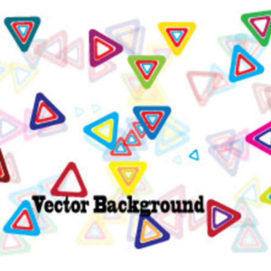 Triangle Colored Design Vector Graphic