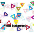 Triangle Colored Design Vector Graphic