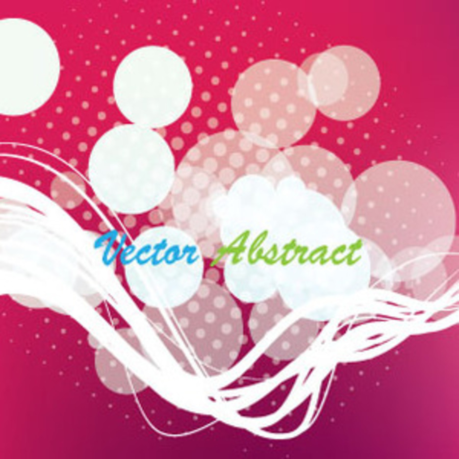 Lany Pink Abctract Free Vector