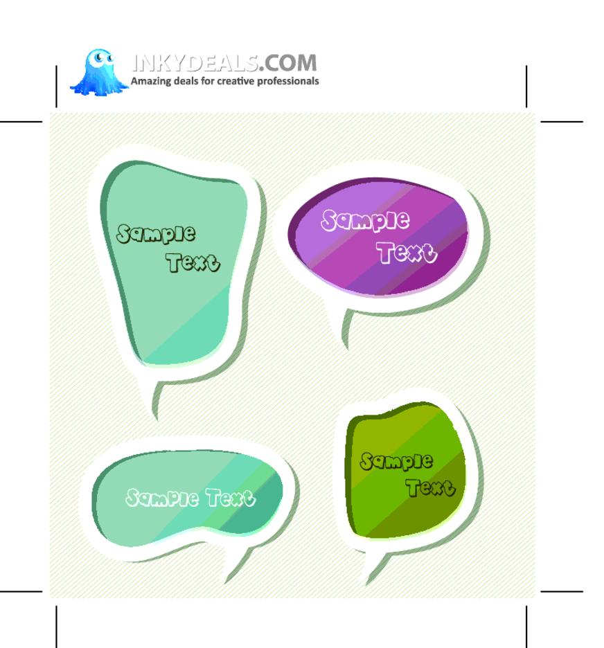 Scrapbook Vector Chat Bubbles Set