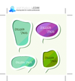 Scrapbook Vector Chat Bubbles Set