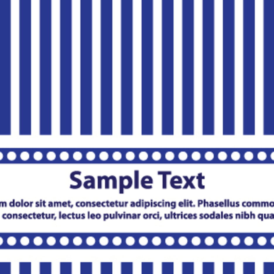Blue And White Lines Card Design